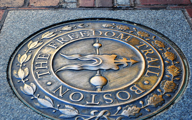 Freedom Trail Emblem man hole cover