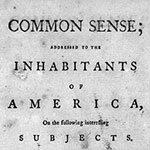 Title page from Thomas Paine's Common Sense.