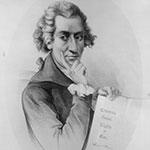 Drawing of Thomas Paine with Common Sense Book