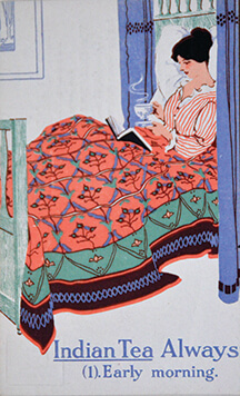 Bed Tea Postcard