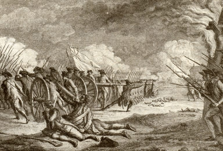 Battle of Lexington. Tiebout, Cornelius. 1777-1832. Library of Congress.