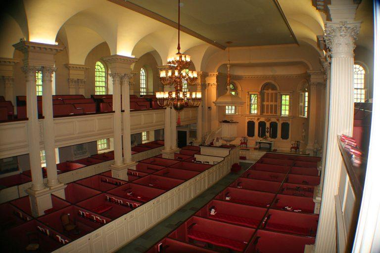 Inside Kings Chapel from second floor