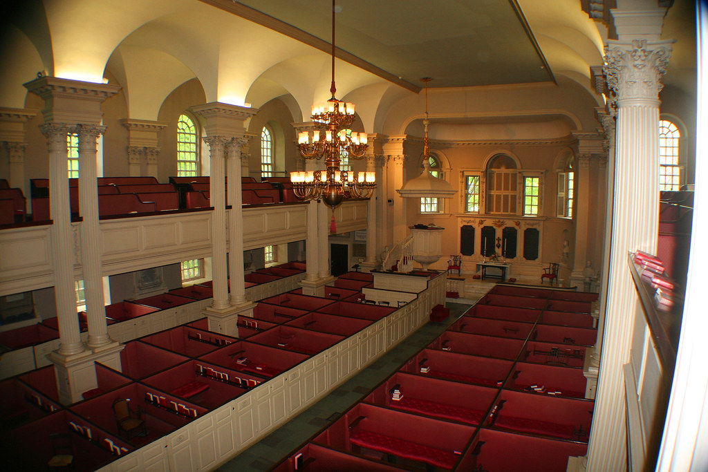 Inside Kings Chapel from second floor