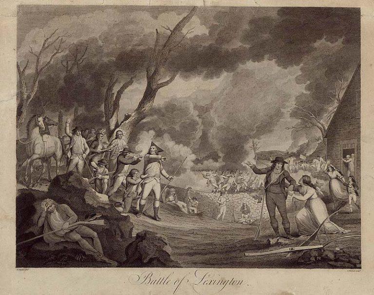 Battle of Lexington. 1777-1832. © Library of Congress.