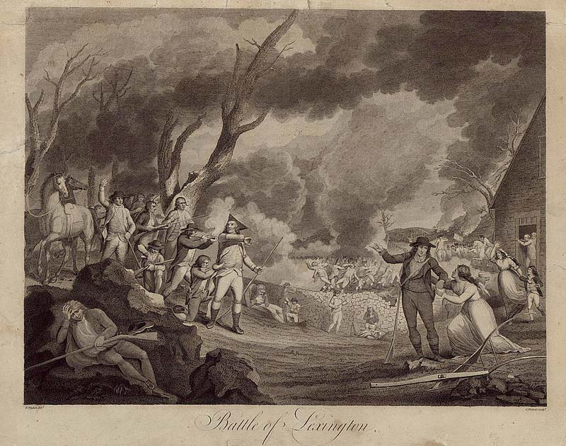 Battle of Lexington. 1777-1832. © Library of Congress.