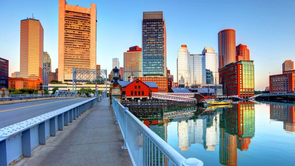 Boston Skyline this winter