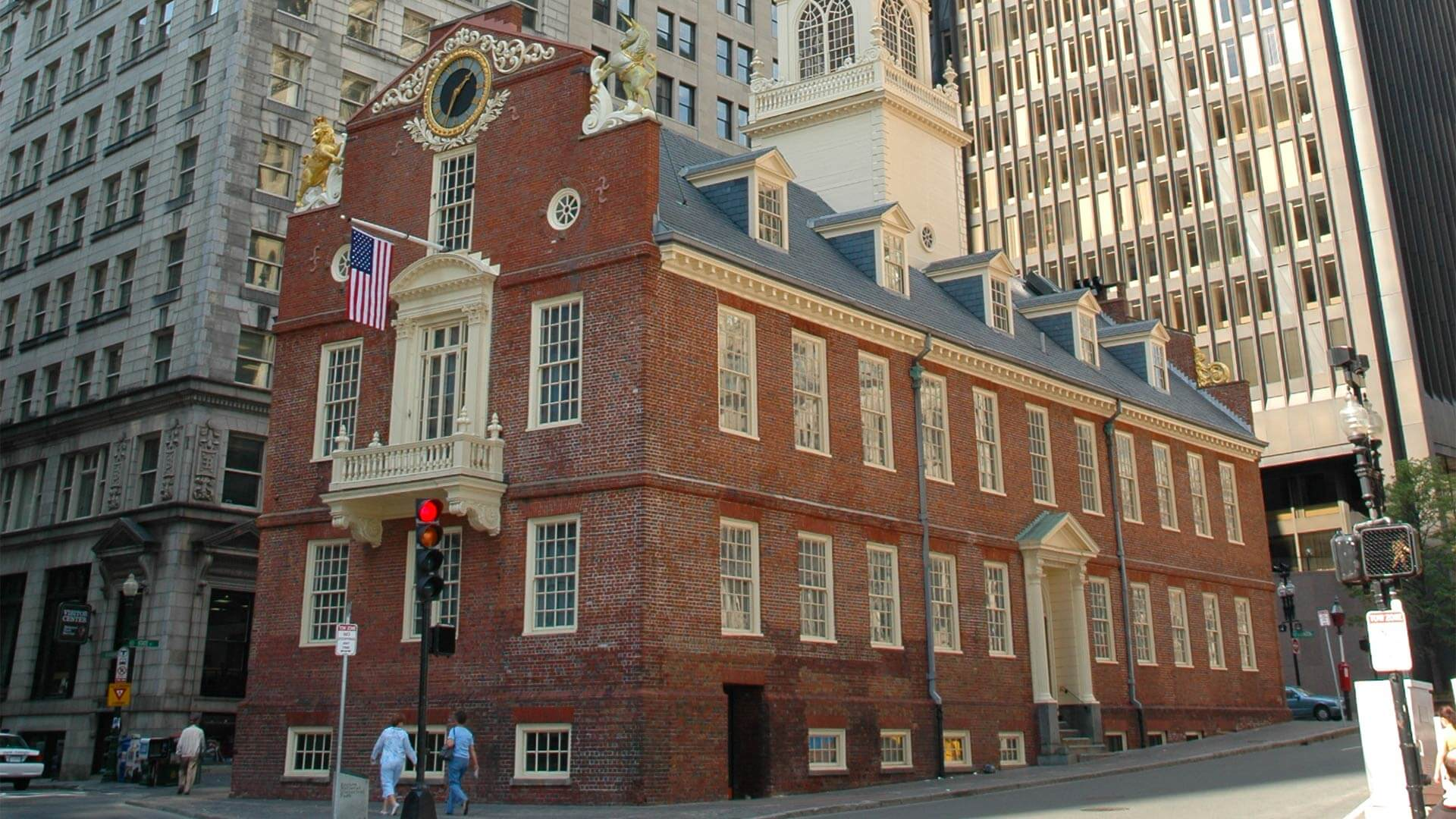 The old state house in Boston