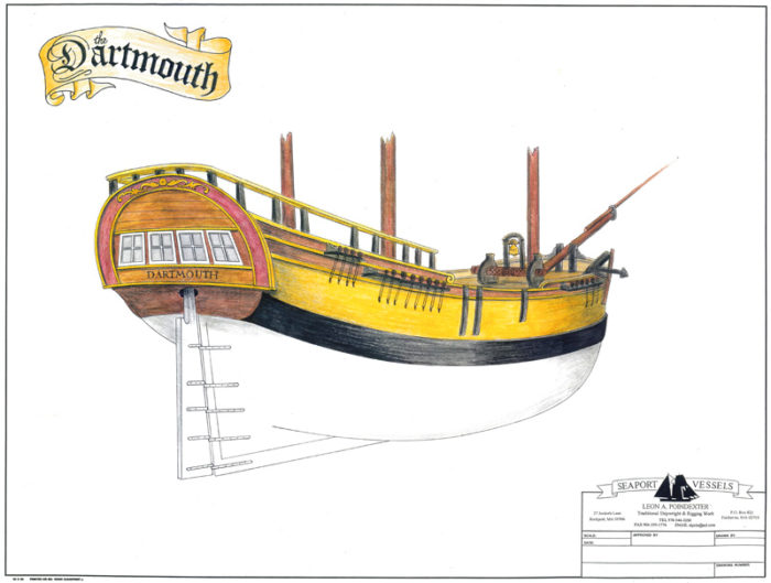 Sketch of the Dartmouth ship