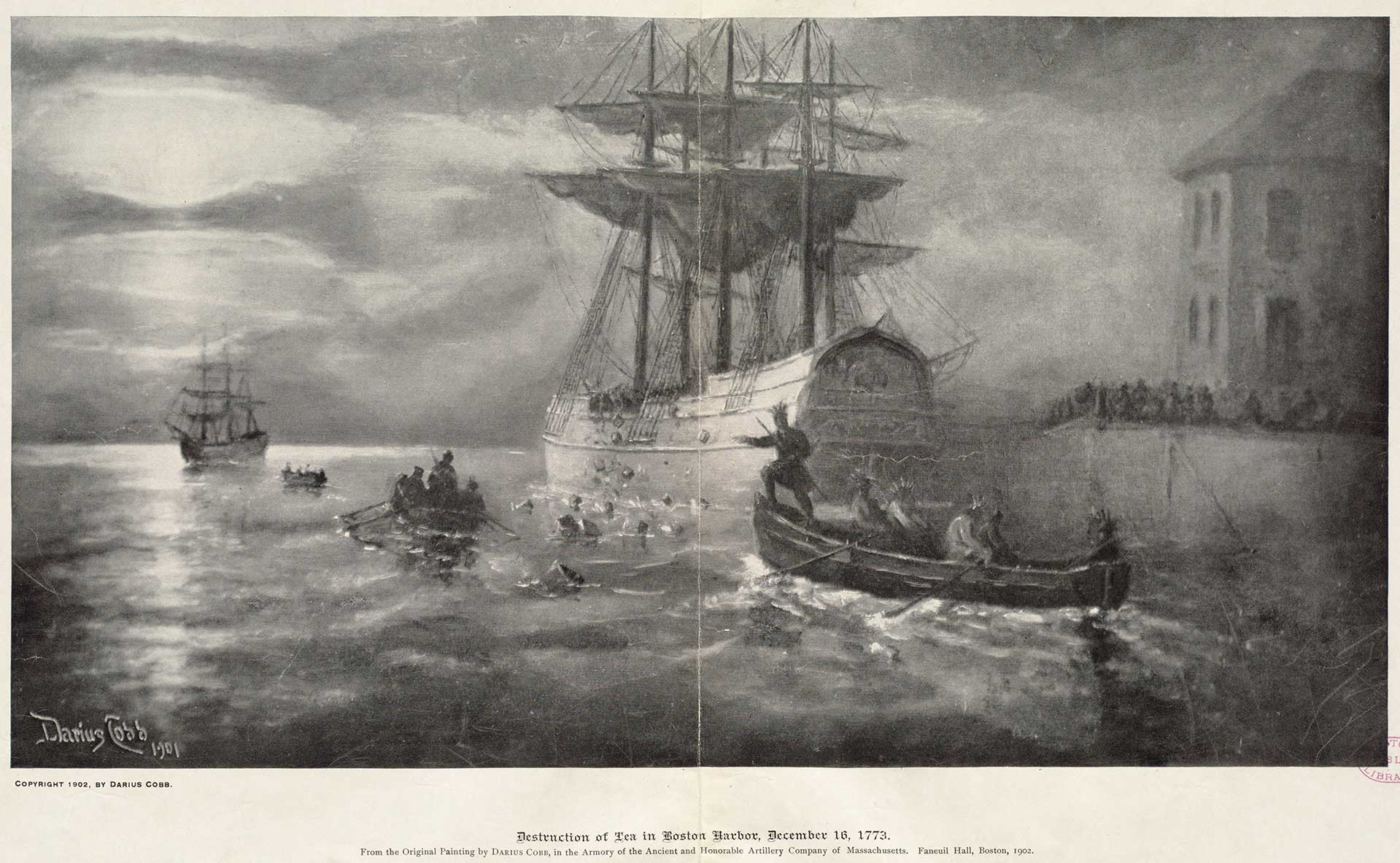 destruction of the tea in the boston harbor