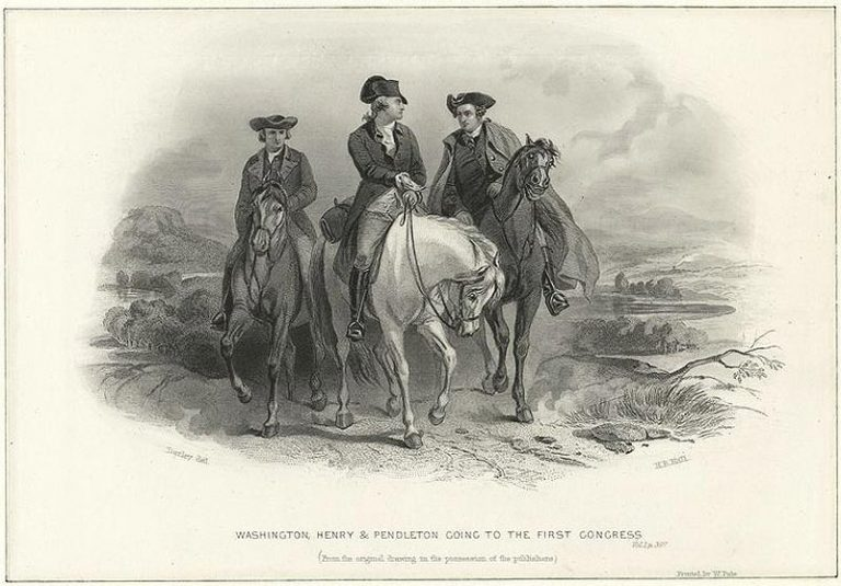 The first congressional congress leaders: Washington, Henry & Pendleton