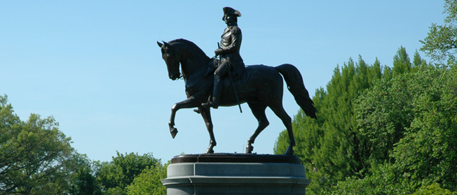 Statue of George Washington in Boston
