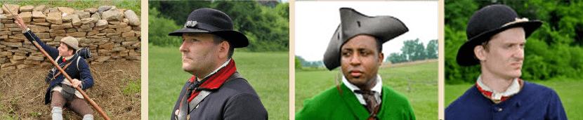 Headgear worn during the American Revolution