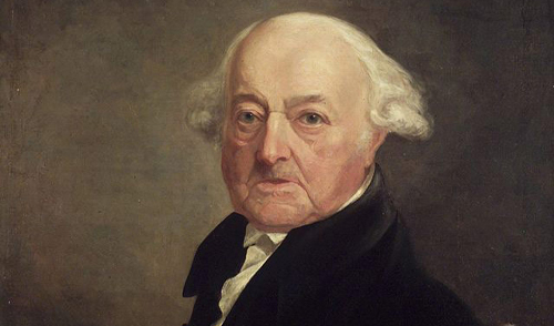 Portrait of John Adams facing left