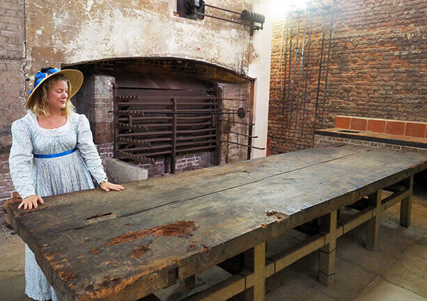 The great kitchen with its massive oven