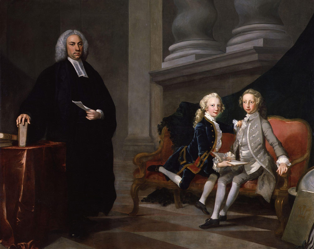 King George III with brother Edward Augustus, and their tutor, Francis Asycough