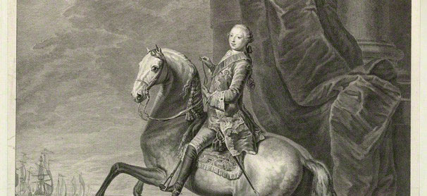 Black and White Portrait of King George the third