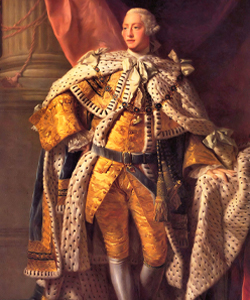 Portrait of King George the third