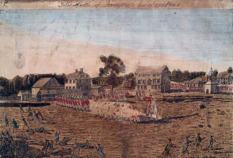 The Battle of Lexington. 1775. Amos Doolittle (engraver) and Ralph Earl (artist). New York Public Library.