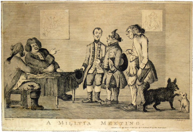 Militia Meeting, 1773. Historical Image Bank.