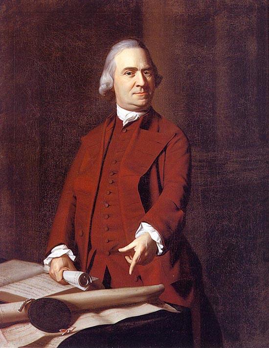 Portrait of Samuel Adams, Oil on canvas, 1772. Museum of Fine Arts, Boston.