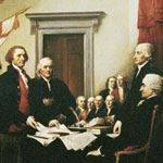 John Adams Presenting the Declaration of Independence