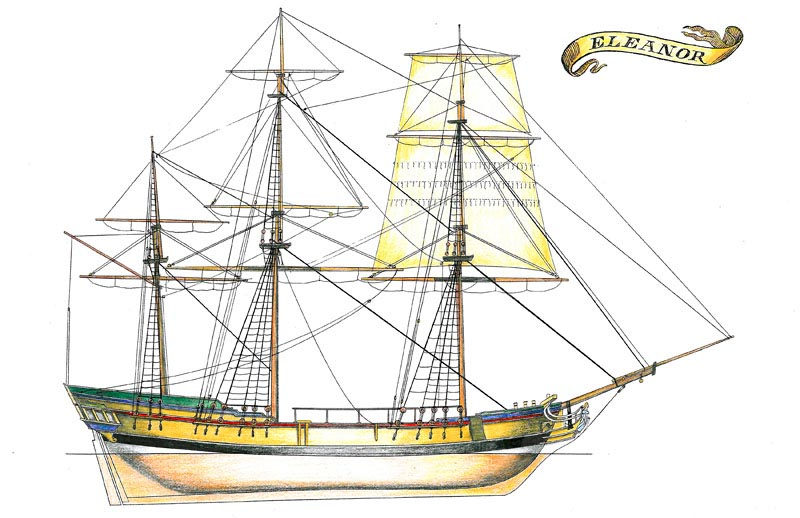Rendering of the Eleanor ship