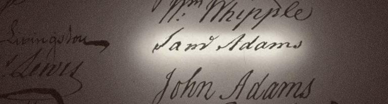 Close up of Sam Adams Signature