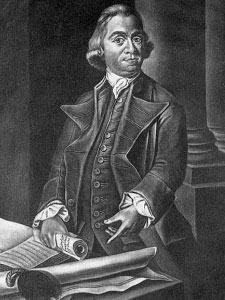 Black and White Portrait of Samuel Adams