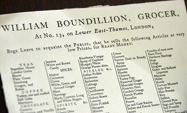 Tea merchant document