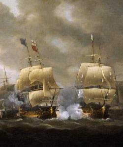 Portrait of the Battle of Guiberon Bay