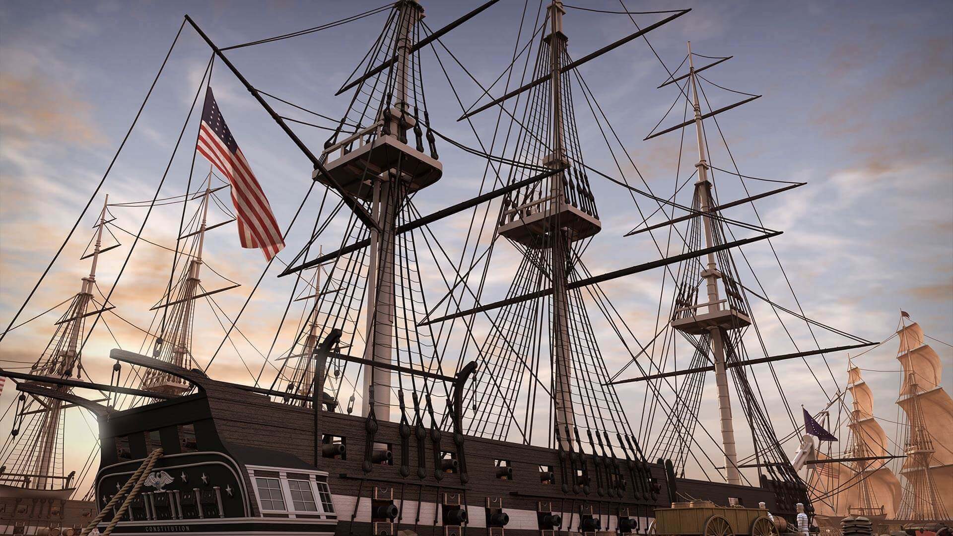 The USS Constitution open to the public