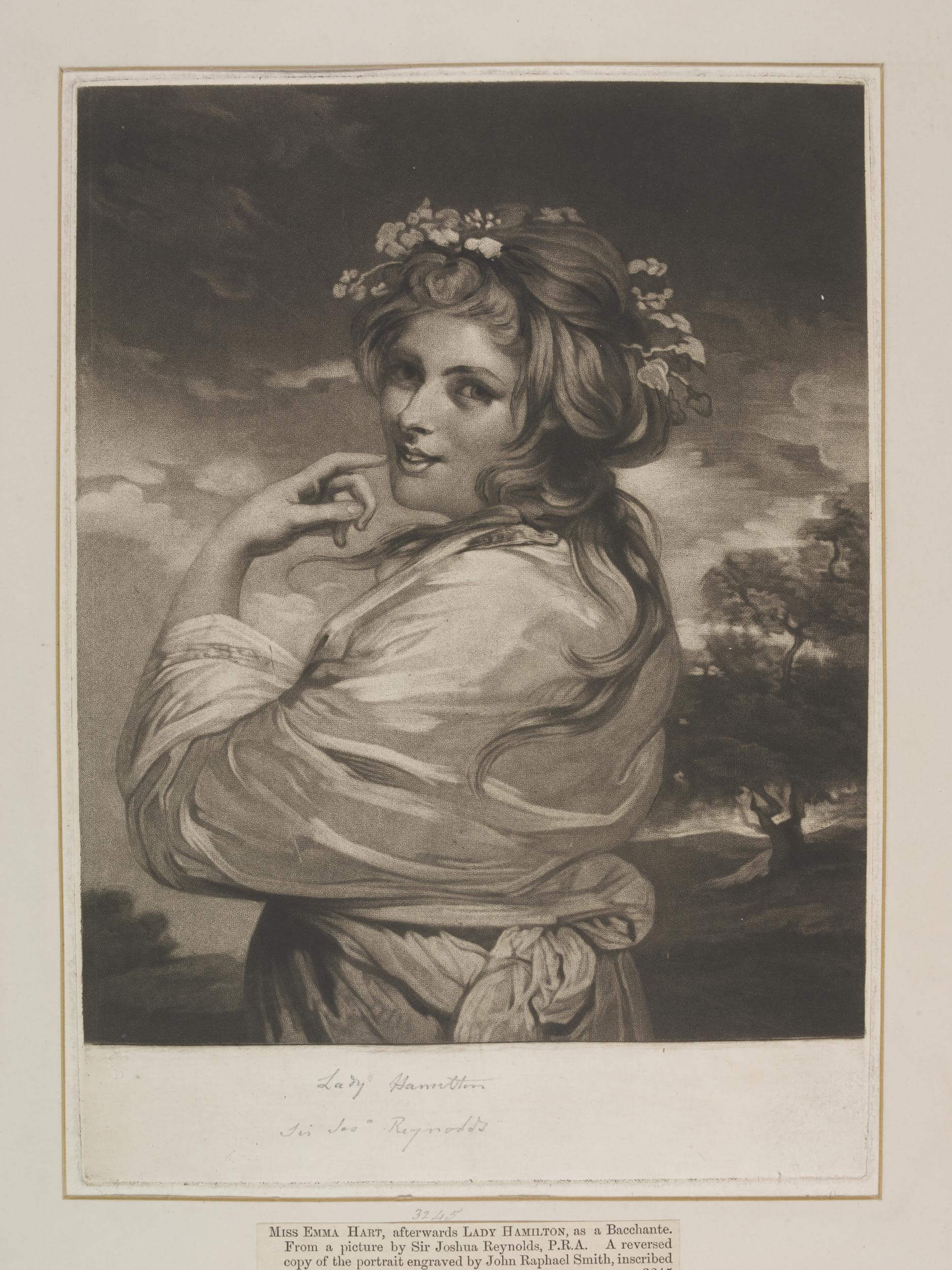 Photograph of Miss Emily Hart by Joshua Reynolds