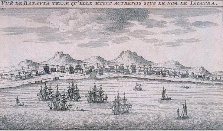 Dutch port of Jakarta in the early 1600s