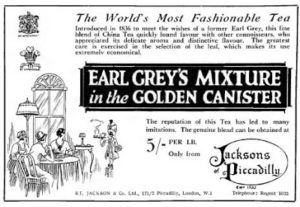 """""""Earl Grey's Mixture in the Golden Canister"""" sale sign excerpt"""