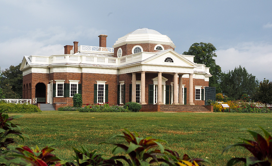 Monticello Lawn and exterior in England