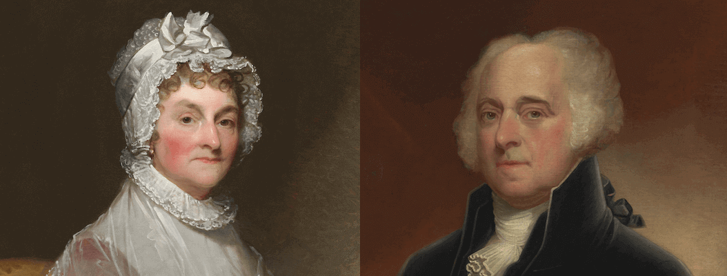 Portraits of Abigail and John Adams