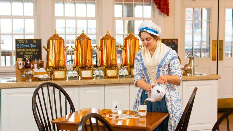 Tea being served in Abigail's Tea Room