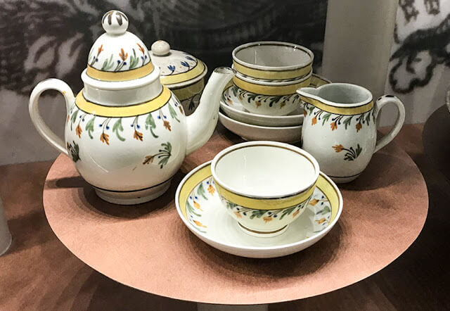 Child's tea set from tea tables at Colonial Williamsburg