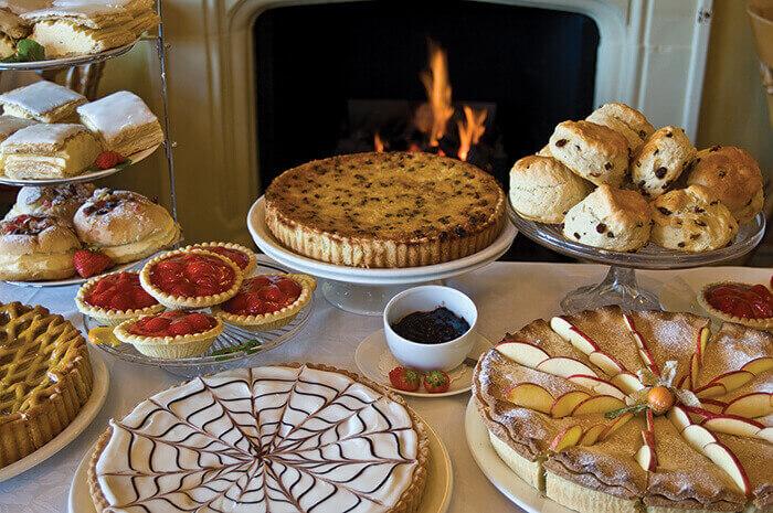 Table set with english tea foods