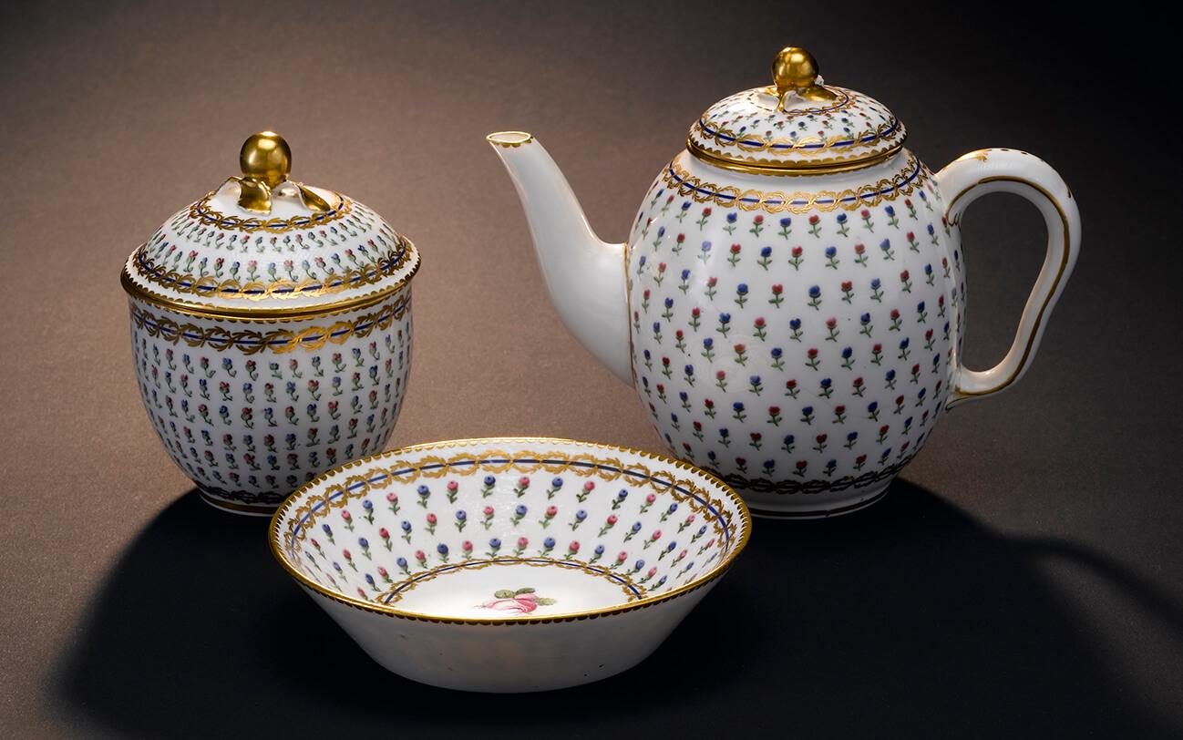 George Washingtons La FAyette French Tea set