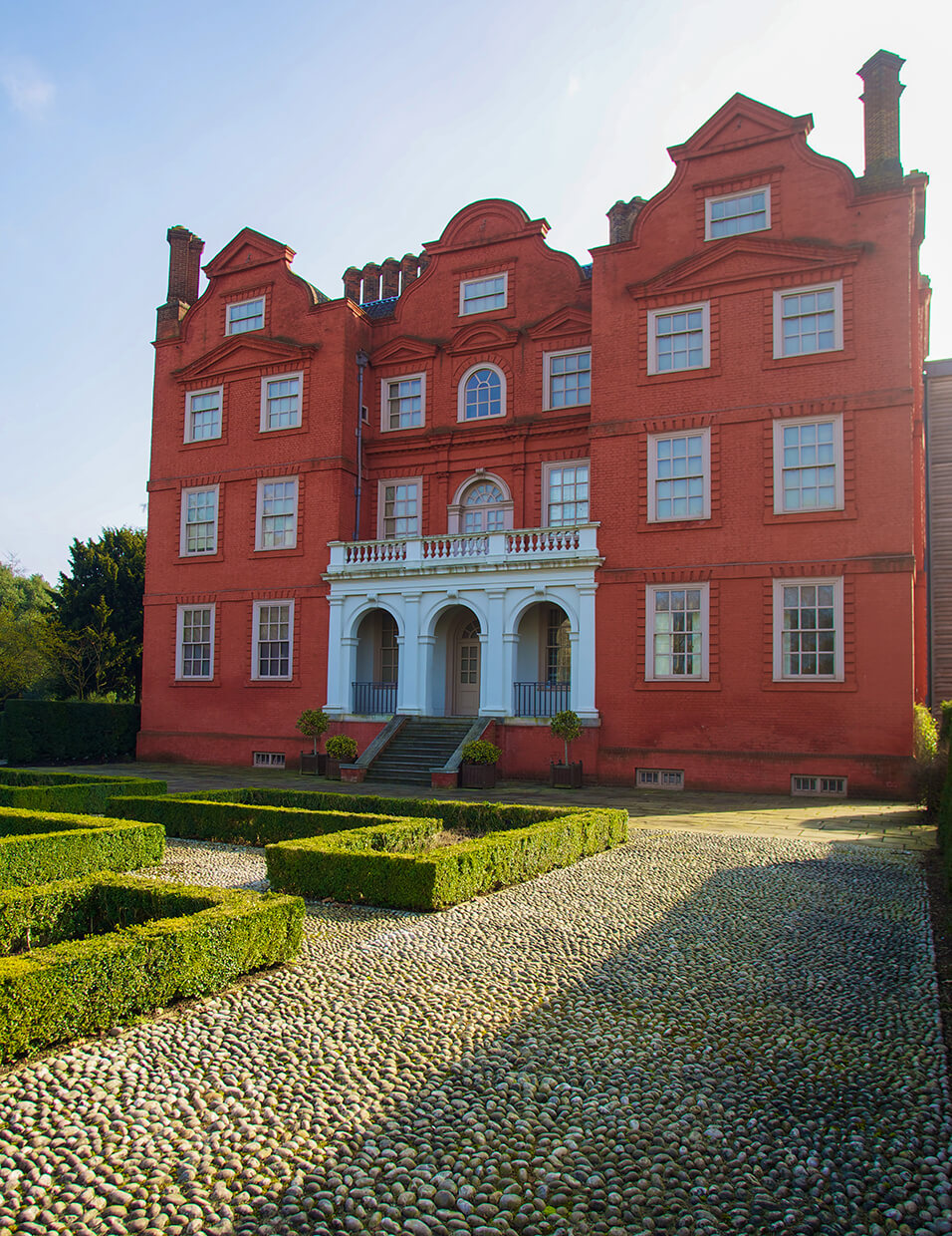 The exterior of Kew Palace in England