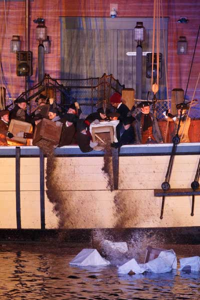 Boston Tea Party Reenactment on the Boston Harbor