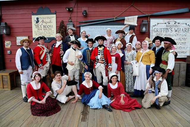 Revelry on Griffins Wharf performance during Boston Harborfest