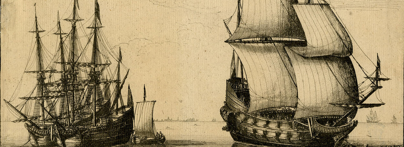 Illustration of tea ships