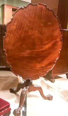 Round tea table in Williamsburg