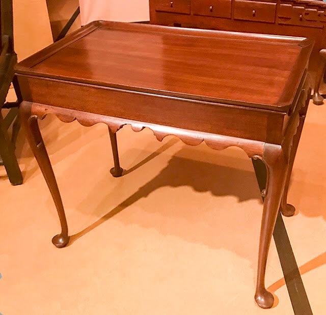 Small square tea table in Williamsburg