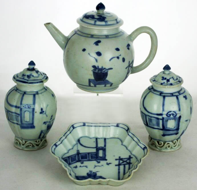 Chinese tea set that was found at sea