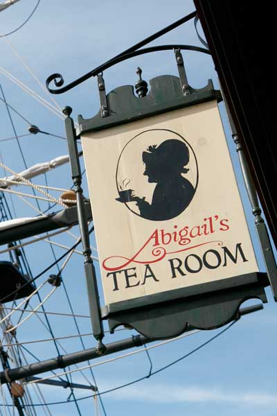 Sign for Abigail's Tea Room