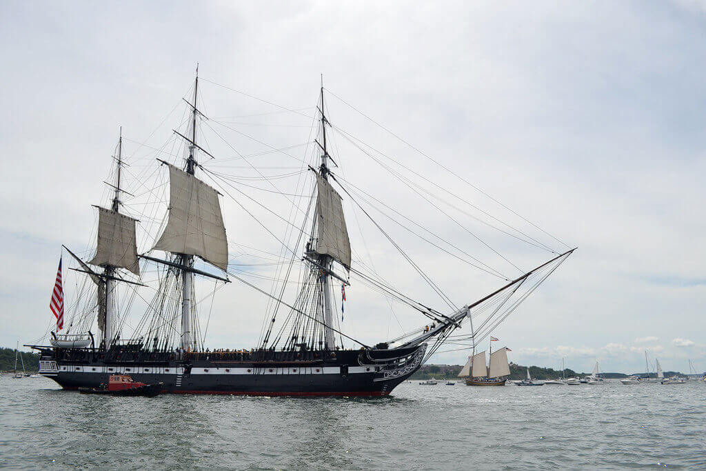 Ship on the water in Boston